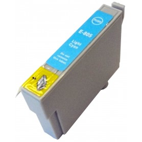 Cartucho sustituto Cyan claro EPSON 0805, reemplaza al T0805, 14ml de capacidad